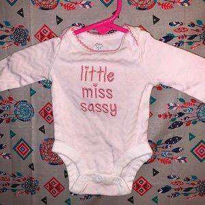 little miss sassy onesie